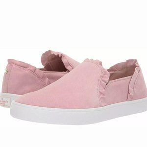 Kate Spade Lilly Ruffle Suede Sneakers